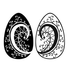 vintage easter eggs spring season isolated vector image