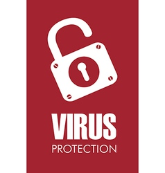 Virus design over red background vector