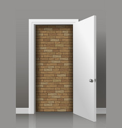 Wall behind the door vector