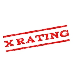 X Rating Watermark Stamp vector