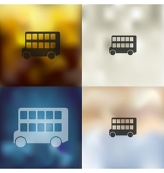 Bus double decker icon on blurred background vector