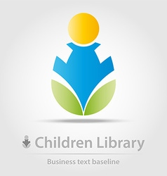 Children library business icon vector image