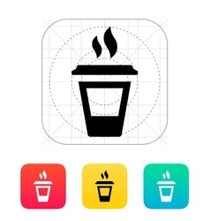 Ending coffee cup icon vector image vector image