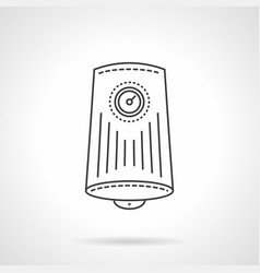 Household water boiler flat line icon vector