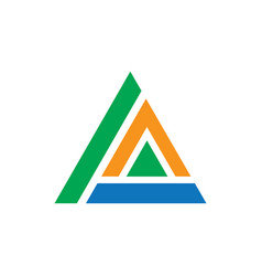 triangle business logo image vector image