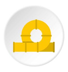 yellow playground slider icon circle vector image vector image