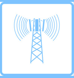 cellular broadcasting antenna icon vector image
