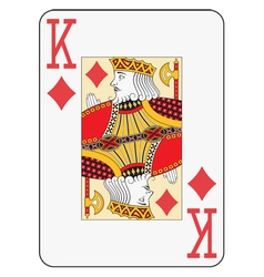 Jumbo index king of diamonds vector image