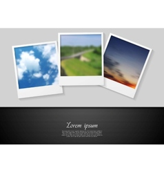 Polaroid photo abstract background vector image vector image