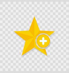 star icon plus icon vector image vector image