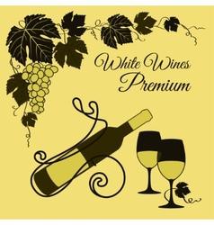 White wine set vector image