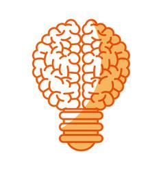 Brain bulb inspiration creativity image vector