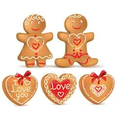 Gingerbread love vector