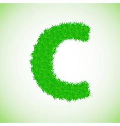 grass letter C vector image