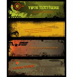 grunge military banners vector image vector image