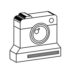 retro instant camera photographic isolated icon vector image vector image