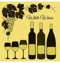 White wine set vector image vector image
