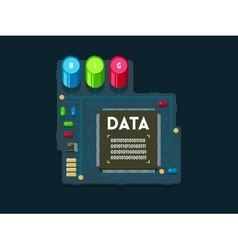 Big data technology concept vector image vector image