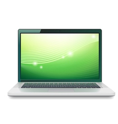 Laptop with abstract wallpaper vector image vector image