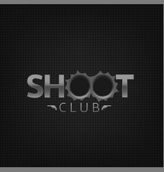 shoot club emblem vector image vector image