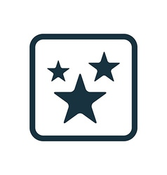 stars icon Rounded squares button vector image