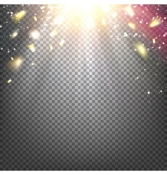 The golden confetti vector image vector image