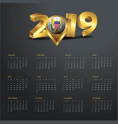 2019 calendar template virgin islands us country vector