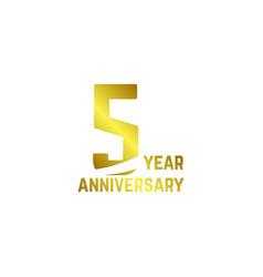5 year anniversary logo template design vector