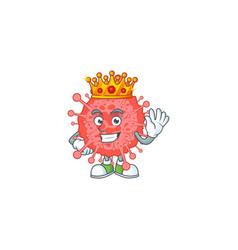 A charismatic king coronavirus disaster design vector