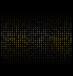 abstract of dark background on gold circle shape vector image
