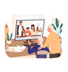 adult children and grandchildren chatting vector image