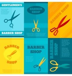 Barber Poster Set vector