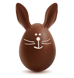 brown easter bunny chocolate egg vector image