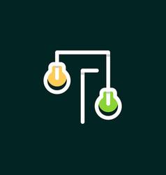 bulb garden outline business logo design vector image