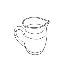 carafe jug pitcher silhouette graphic vector image