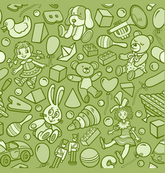 cartoon cute doodles kids toys seamless pattern vector image