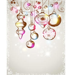Christmas shining decorations vector image