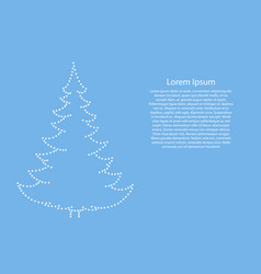 christmas tree and happy new year decoration set vector image