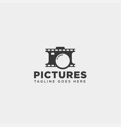 Cinema picture photography simple logo template vector