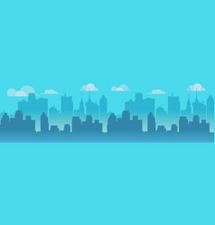 city skyline blue city vector image