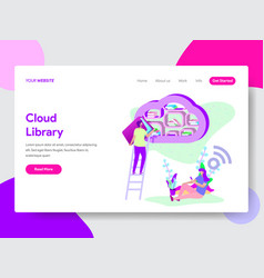 cloud library concept vector image