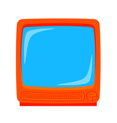 colorful cartoon old television monitor vector image
