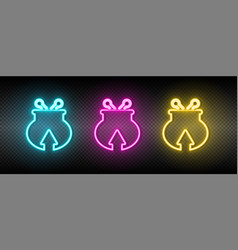 Coming money wallet neon icon vector