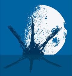 Cosmodrome vector image