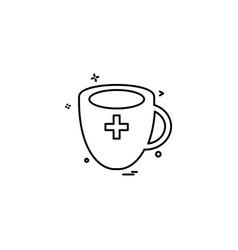 cup milk medicine icon design vector image