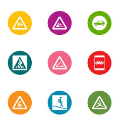 Descent icons set flat style vector