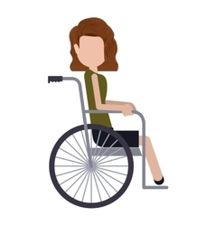 Disabled girl cartoon design vector