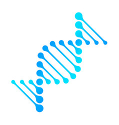 dna icon rna gene fun funny chromosome line vector image