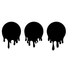 Dripping liquid current paint stains paint vector