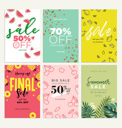 eye catching summer sale mobile banners ads and p vector image